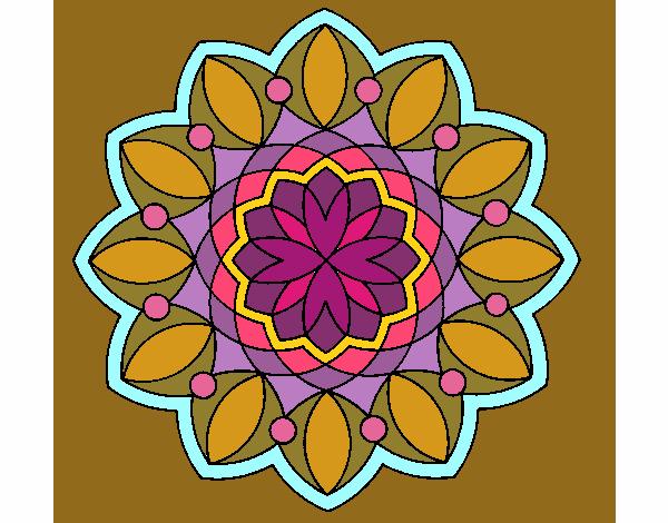 Coloriage Mandala 3 colorié par KAKE2