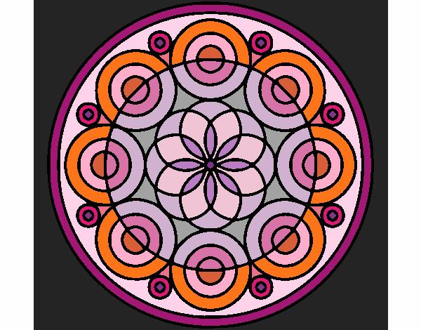 Coloriage Mandala 35 colorié par KAKE2