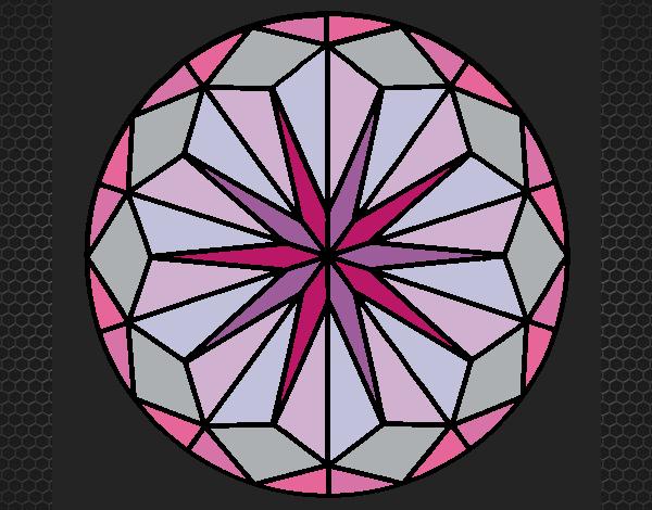 Coloriage Mandala 41 colorié par KAKE2