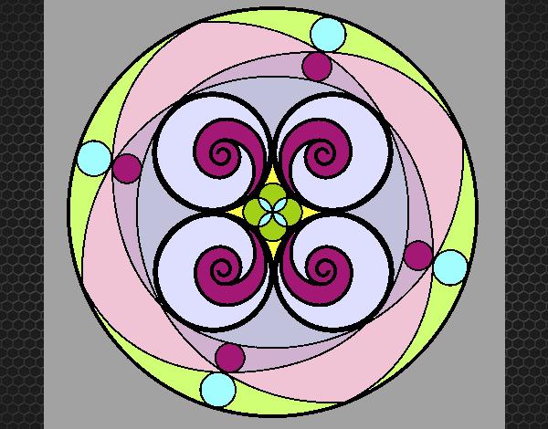 Coloriage Mandala 5 colorié par KAKE2