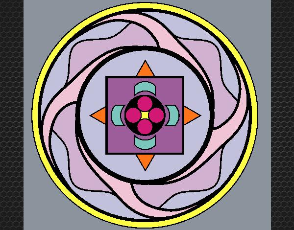 Coloriage Mandala 7a colorié par KAKE2