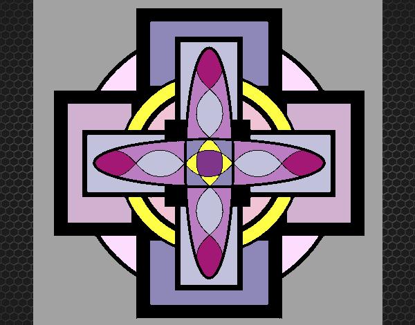 Coloriage Mandala 8 colorié par KAKE2