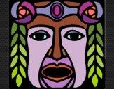 Coloriage Masque Maia colorié par KAKE2