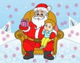 Père Noël et enfant de Noël