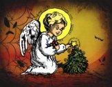Coloriage Petit ange de Noël colorié par KAKE2