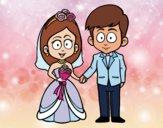 La mariée et le marié.
