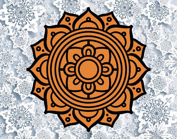 Mandala mosaïque grecque