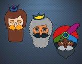 Coloriage 3 rois mages colorié par Danielle
