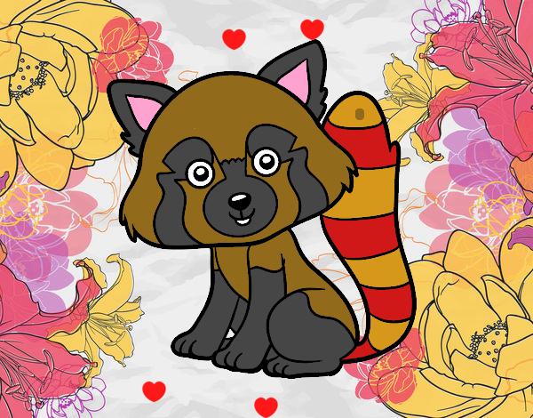 Dessin de panda roux colorie par membre non inscrit le 17 de d cembre de 2017 - Dessin panda roux ...
