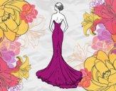 Robe de mariée avec queue