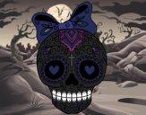 Fête des morts au mexicain avec ruban