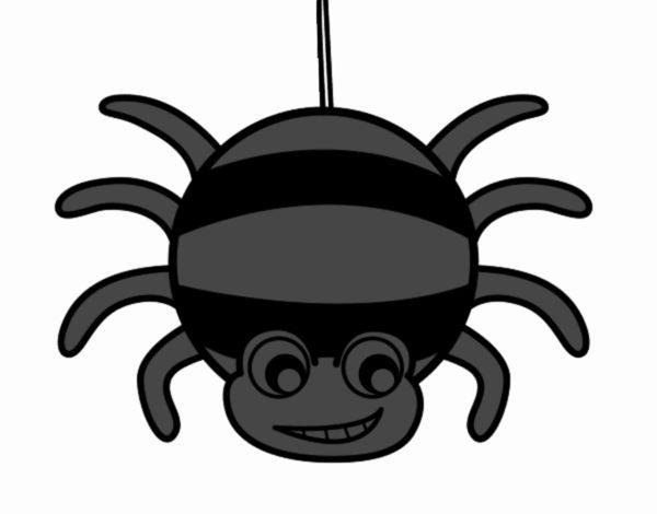dessin de araign e rayures colorie par membre non inscrit le 02 de janvier de 2018. Black Bedroom Furniture Sets. Home Design Ideas