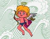 Cupidon avec son arc magique