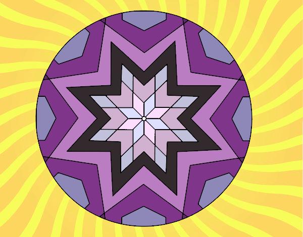 Mandala mosaïque étoile