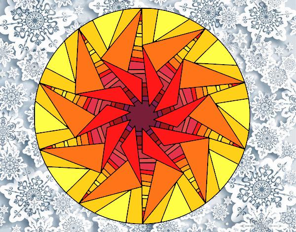 Mandala soleil triangulaire