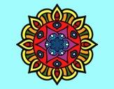 Coloriage Mandala vie vegetale colorié par Danielle