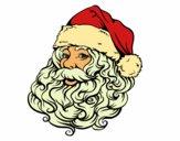 Visage du Père Noël pour Noël