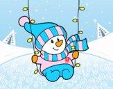 Bonhomme de neige se balancer