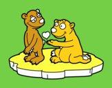 Couple d'ours amoureux