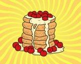 Coloriage Pancakes colorié par Danielle