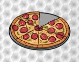 Coloriage Pizza italianne colorié par Danielle