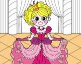 Princesse dans un bal