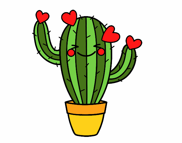 Dessin de cactus coeur colorie par membre non inscrit le 26 de janvier de 2018 - Cactus coloriage ...