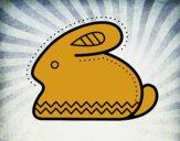 Lapin de Pâques latéral
