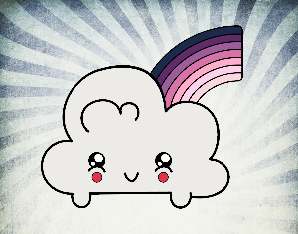 Dessin de nuage avec arc en ciel kawaii colorie par membre non inscrit le 24 de janvier de 2018 - Nuage en dessin ...