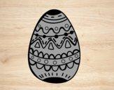 Un oeuf de Pâques décoré