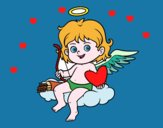 Cupidon sur un nuage