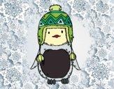 Pingouin bébé avec chapeau