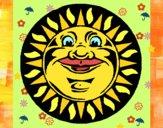 Soleil gravé