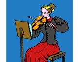 Dame violonniste