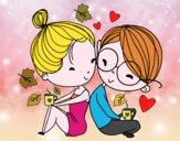 Deux jeunes amants