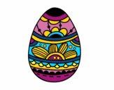 Oeuf de Pâques avec imprimé floral