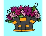 Panier de fleurs 7