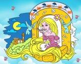 Coloriage Princesse Raiponce colorié par Revel