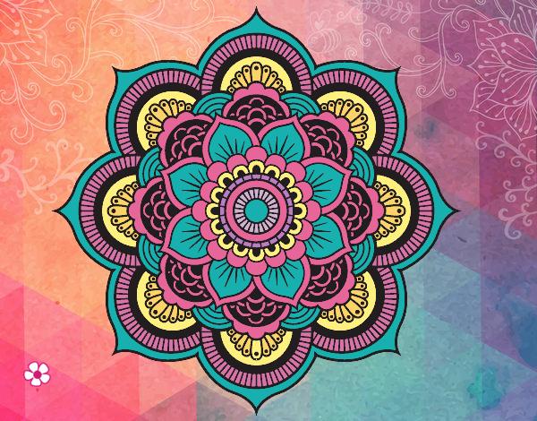Mandala fleur oriental