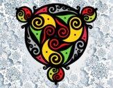 Mandala avec trois points