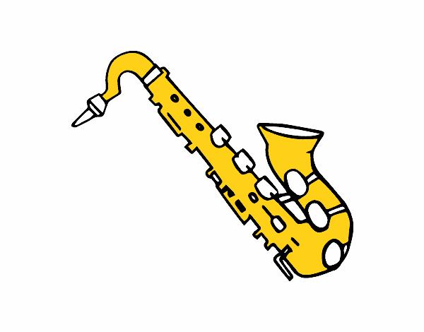 Dessin Saxophone dessin de saxophone ténor colorie par membre non inscrit le 27 de