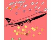 Avion en l'air