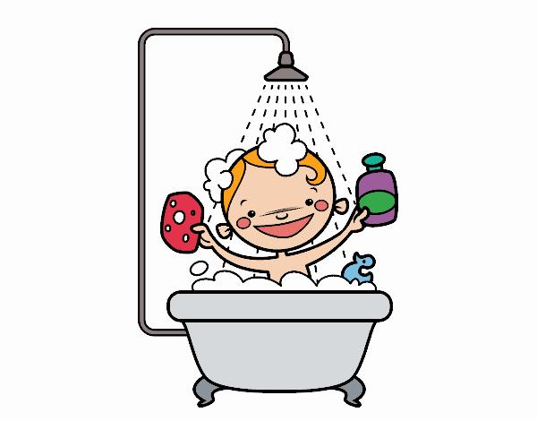 dessin de enfant dans la douche colorie par membre non inscrit le 11 de mars de 2018. Black Bedroom Furniture Sets. Home Design Ideas