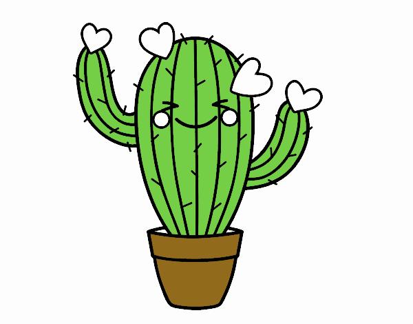 Dessin de cactus coeur colorie par membre non inscrit le 12 de mars de 2018 - Cactus coloriage ...