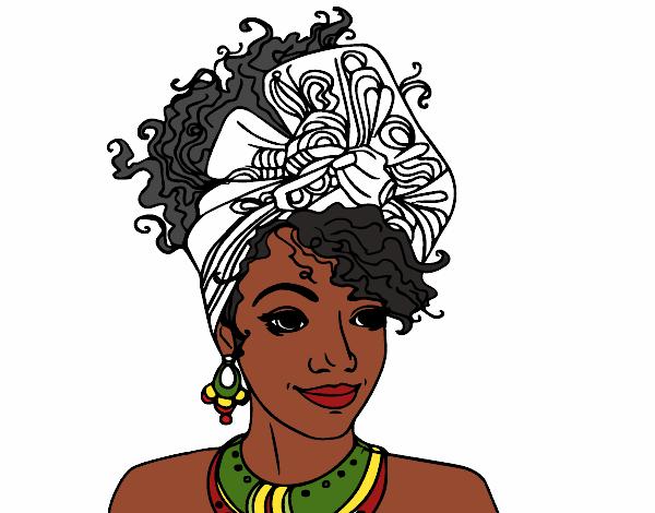 Dessin De Femme Africaine dessin de femme africaine colorie par membre non inscrit le 25 de