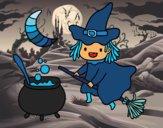 La sorcière volante et sa potion