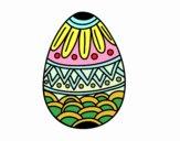 Oeufs de Pâques décorés avec estampage