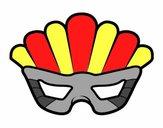 Masque avec plumes