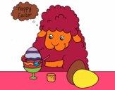 Petits moutons à colorier des oeufs de Pâques