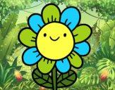 Une fleur souriante